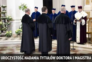 Uroczystość nadania tytułów doktora i magistra